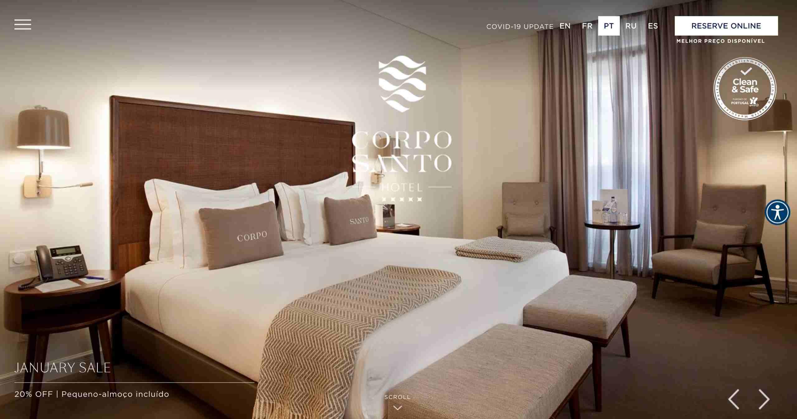 Clientes ABC Hospitality Corpo Santo Hotel
